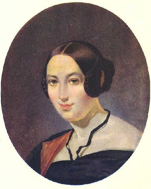 Портрет Маевской. (1843). Автор: Т.Шевченко